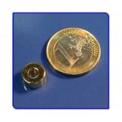 Imán de neodimio Ref. A02Au Anillo Acabado Oro D10D4x5mm