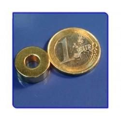 Imán de neodimio Ref. A03Au Anillo Acabado Oro D15D6x6mm Pack 25