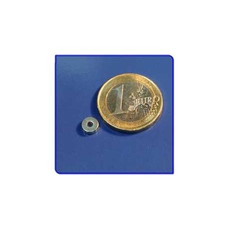 Imán de neodimio Ref. A01 Anillo D6D2x2mm Pack 50