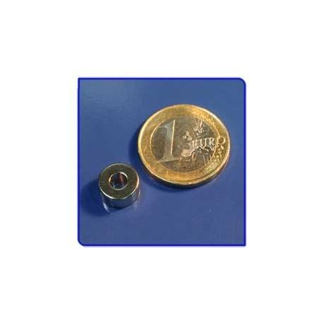 Imán de neodimio Ref. A02 Anillo D10D4x5mm Pack 50