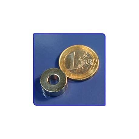 Imán de neodimio Ref. A03 Anillo D15D6x6mm Pack 50