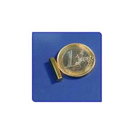 Imán de neodimio Ref. B02Au Barra Acabado Oro 4x15 mm