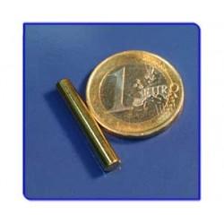 Imán de neodimio Ref. B03Au Barra Acabado Oro 4x25 mm Pack 10