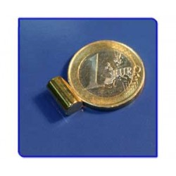 Imán de neodimio Ref. B04Au Barra Acabado Oro 6x10 mm