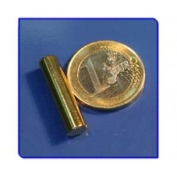 Imán de neodimio Ref. B06Au Barra Acabado Oro 6x25 mm Pack  10