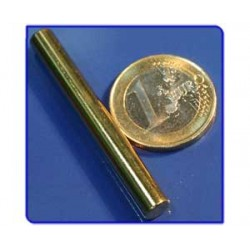 Imán de neodimio Ref. B07Au Barra Acabado Oro 6x50 mm Pack 10