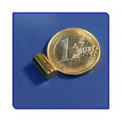 Imán de neodimio Ref. B04Au Barra Acabado Oro 6x10 mm Pack 25