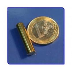 Imán de neodimio Ref. B06Au Barra Acabado Oro 6x25 mm Pack 25