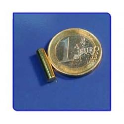 Imán de neodimio Ref. B02Au Barra Acabado Oro 4x15 mm Pack 100