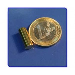 Imán de neodimio Ref. B05Au Barra Acabado Oro 6x15 mm Pack 100