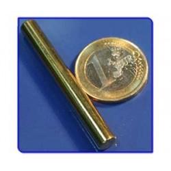 Imán de neodimio Ref. B07Au Barra Acabado Oro 6x50 mm
