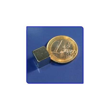 Imán de neodimio Ref. Bl04 Bloque 10x10x10mm