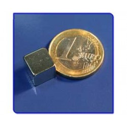 Imán de neodimio Ref. Bl04 Bloque 10x10x10mm Pack 25