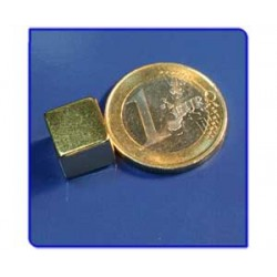 Imán de neodimio Ref. Bl04Au Bloque Acabado Oro 10x10x10m Pack 25