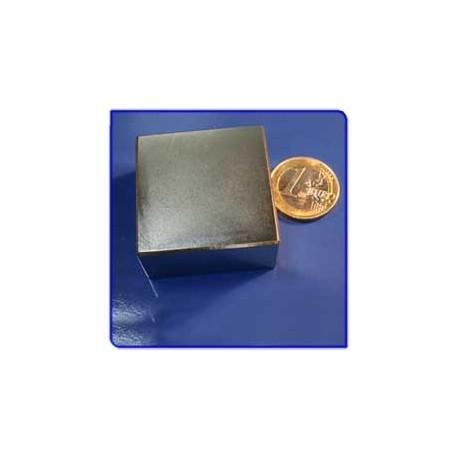 Imán de neodimio Ref. Bl06 Bloque Acabado en Oro40x40x20m