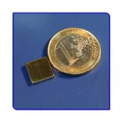 Imán de neodimio Ref. Bl02Au Bloque Acabado Oro 10x10x2mm Pack 100