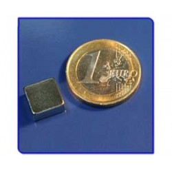 Imán de neodimio Ref. Bl03 Bloque 10x10x5mm Pack 100