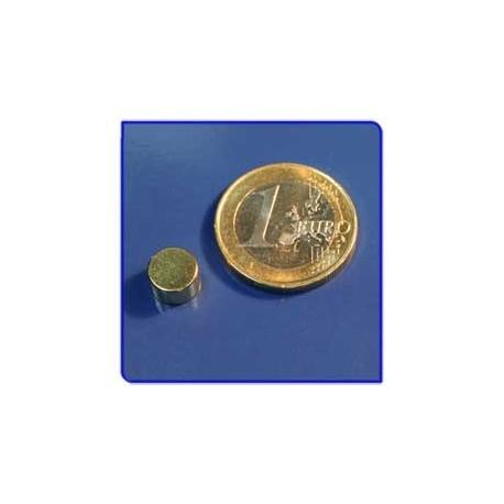 Imán de neodimio Ref. D04Au Disco Acabado Oro 8x5mm