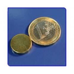Imán de neodimio Ref. D07Au Disco Acabado Oro 15x3mm