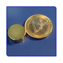 Imán de neodimio Ref. D08Au Disco Acabado Oro 15x5mm