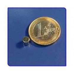 Imán de neodimio Ref. D02 Disco 5x5mm Pack 10