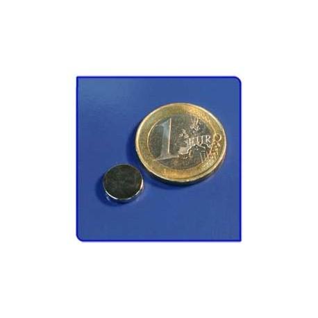 Imán de neodimio Ref. D05Au Disco Acabado Oro 10x2mm Pack 10