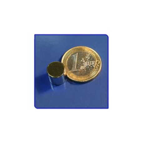 Imán de neodimio Ref. D06Au Disco Acabado Oro 10x10 mm Pack 10