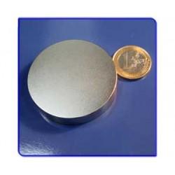 Imán de neodimio Ref. D12 Disco 50x10 mm Pack 10