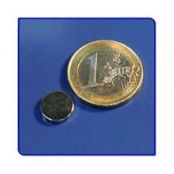 Imán de neodimio Ref. D05 Disco 10x2 mm Pack 50