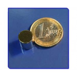 Imán de neodimio Ref. D06Au Disco Acabado Oro 10x10 mm Pack 50