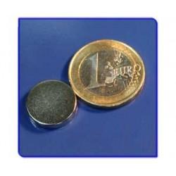 Imán de neodimio Ref. D07Au Disco Acabado Oro 15x3mm Pack 50