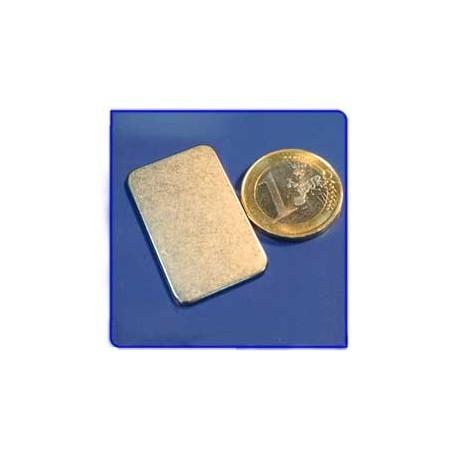 Imán de neodimio Ref. V01 Placa 35x22x1,5 mm