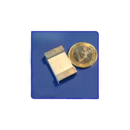 Imán de neodimio Ref. V03 Placa 25x15x5 mm Pack 10
