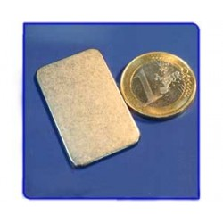 Imán de neodimio Ref. V01 Placa 35x22x1,5 mm Pack 25
