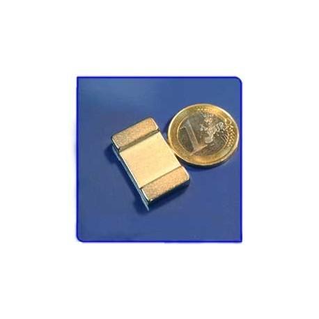 Imán de neodimio Ref. V02 Placa 25x15x5 mm Pack 25