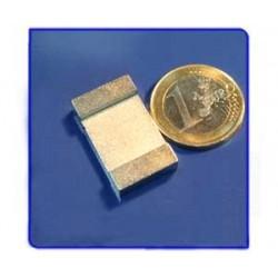 Imán de neodimio Ref. V03 Placa 25x15x5 mm Pack 25