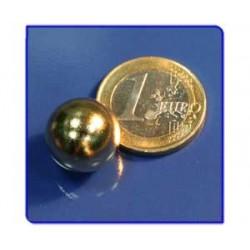 Imán de neodimio Ref. E03Au Esfera Acabado Oro D15mm