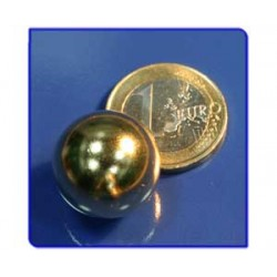 Imán de neodimio Ref. E04Au Esfera Acabado Oro D19mm Pack 10