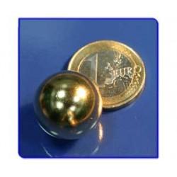 Imán de neodimio Ref. E04Au Esfera Acabado Oro D19mm Pack 25