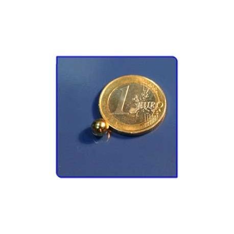 Imán de neodimio Ref. E01Au Esfera Acabado Oro D6mm