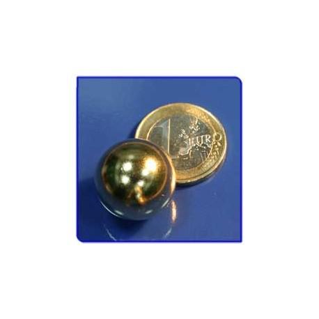 Imán de neodimio Ref. E04Au Esfera Acabado Oro D19mm