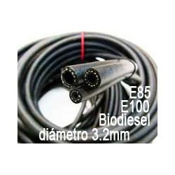 Tubo combustible para etanol E85 - E100 y biodiesel 3.2mm