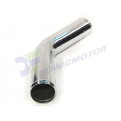 "Tubo de Aluminio codo 45º, 64mm diámetro (2,5"")"