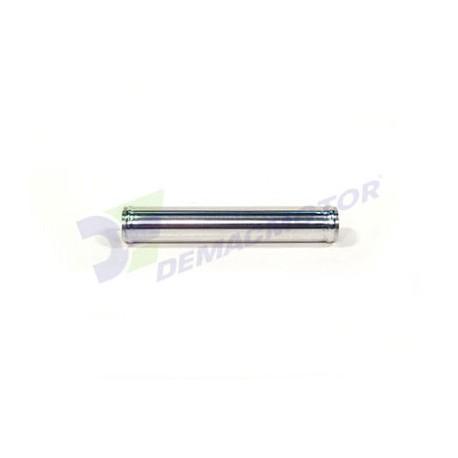 """Tubo de Aluminio recto, 76mm diámetro (3"""") y 300mm de longitud"""