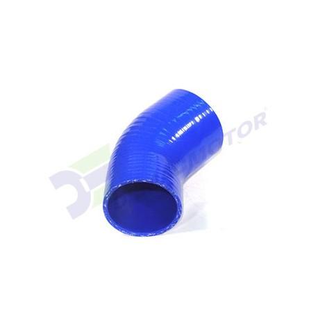 """Codo Silicona en Reducción de 45º, Ø76mm a Ø70mm (3"""" a 2,75"""")"""