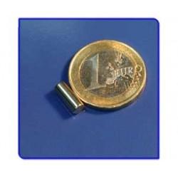 Imán de neodimio Ref. B01Au Barra Acabado Oro 4x10 mm Pack 10