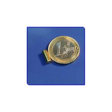 Imán de neodimio Ref. B01Au Barra Acabado Oro 4x10 mm Pack 50