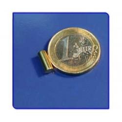 Imán de neodimio Ref. B01au acabado oro Barra 4x10 mm