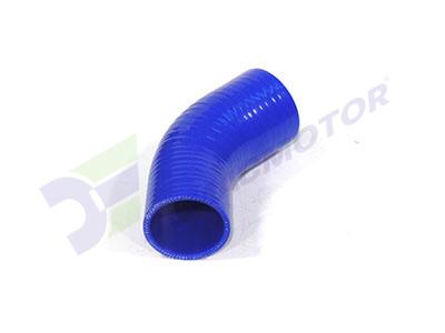 Medidas del codo en reducción de silicona en 45° de 57mm a 51mm de diámetro interno