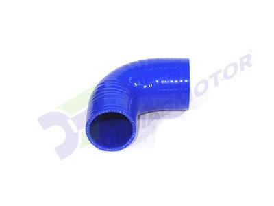 Imagen del codo en reducción de silicona en 90° de 51mm a 45mm de diámetro interno